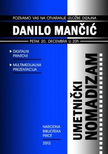 Danilo Mančić - Umetnički nomadizam
